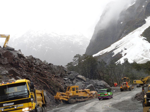 Milford Road Ladslide